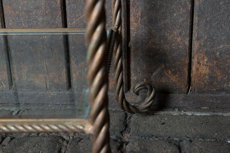 Gilt Metal Rope Style Étagère/Shelves For Sale 4