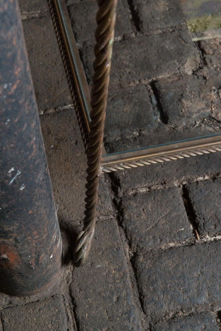 Gilt Metal Rope Style Étagère/Shelves For Sale 5