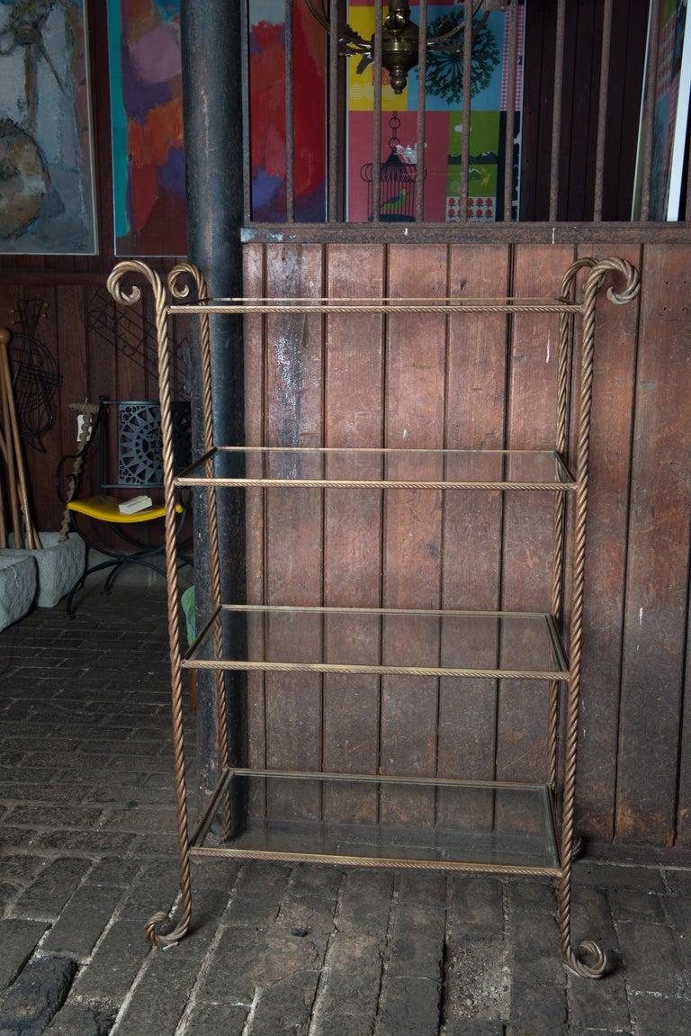 Gilt Metal Rope Style Étagère/Shelves For Sale 9