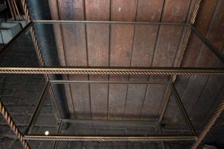 Gilt Metal Rope Style Étagère/Shelves For Sale 10