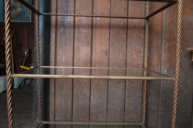 Gilt Metal Rope Style Étagère/Shelves For Sale 11