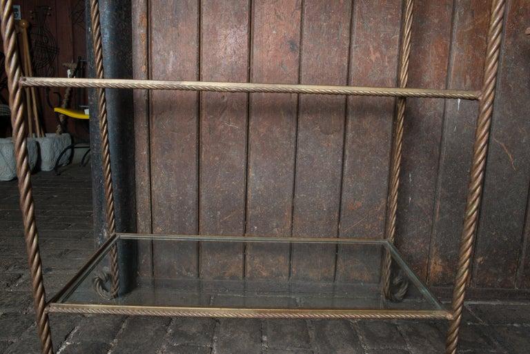 Gilt Metal Rope Style Étagère/Shelves For Sale 12