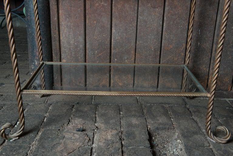 Gilt Metal Rope Style Étagère/Shelves For Sale 1