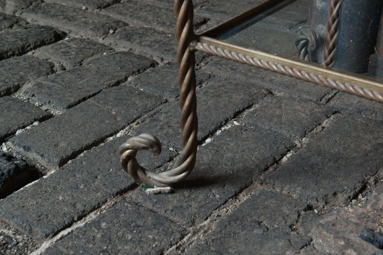 Gilt Metal Rope Style Étagère/Shelves For Sale 3
