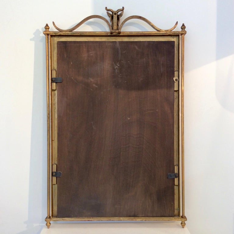 Gilt Metal Wall Mirror, France, circa 1940 For Sale 2