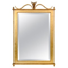 Gilt Metal Wall Mirror, Ramsay France, circa 1940