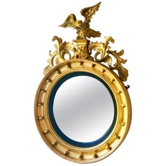 Gilt Mirror, Convex, English, circa 1830