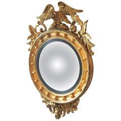 Gilt Mirror, Large Convex Mirror, English, circa 1830