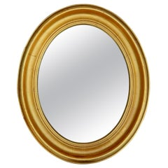 Gilt Oval Frame Mirror