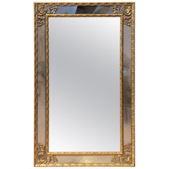 Gilt Paneled Mirror Midcentury