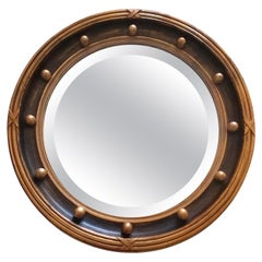 Gilt Patinated Convex Mirror, Offered by La Porte