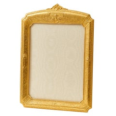 Gilt Photo Frame with Embossed Arabesque Motifs, English, 20th Century