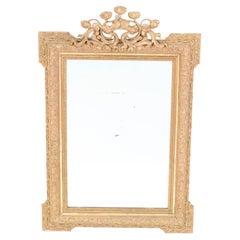 Gilt Plaster French Art Nouveau Mirror, 1900s