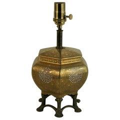 Gilt Porcelain Lamp