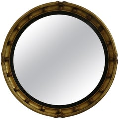 Gilt Regency Convex Mirror, English, circa 1840