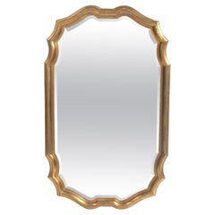Gilt Scalloped Mirror