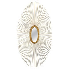 Gilt Sunburns Style Oval Mirror