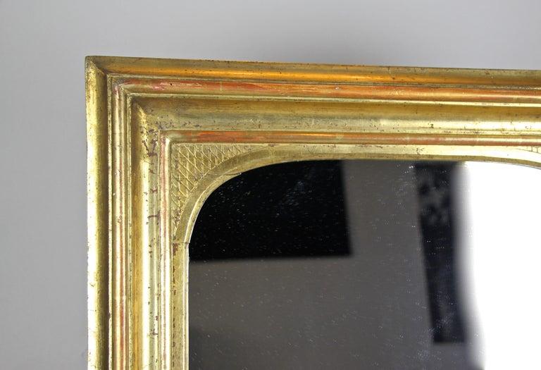 Hand-Carved Gilt Wall Mirror Early Biedermeier Period, Austria, circa 1825 For Sale
