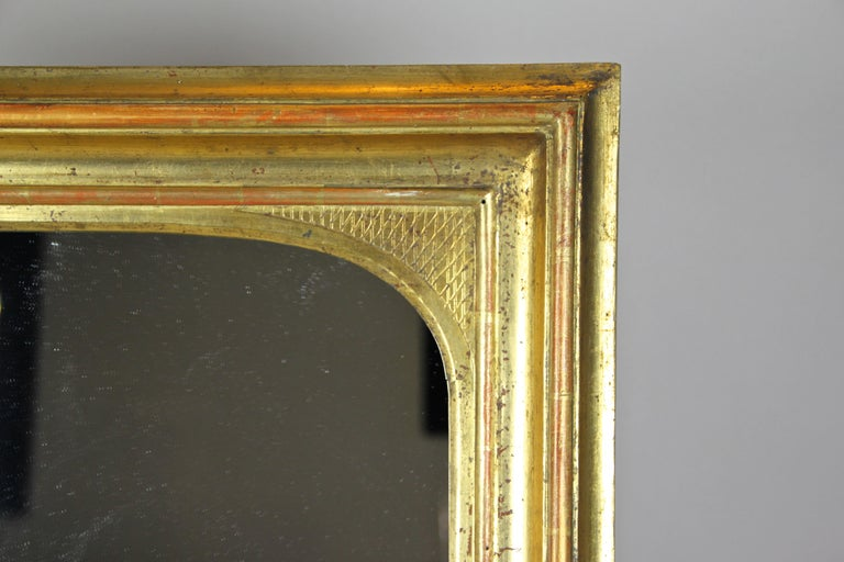 Gilt Wall Mirror Early Biedermeier Period, Austria, circa 1825 In Good Condition For Sale In Linz , AT
