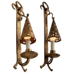 Gilt Wall Sconces