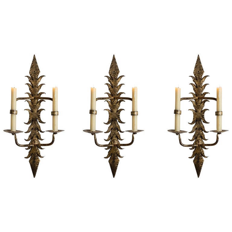Gilt Wall Sconces For Sale