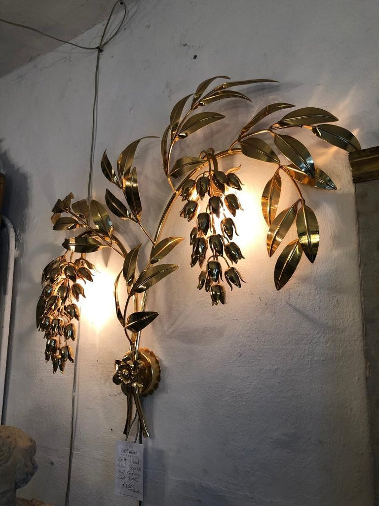 Gilt Wheat Wall Sconce For Sale 1