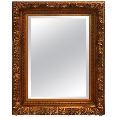 Gilt Wood and Gesso Beveled Wall Mirror