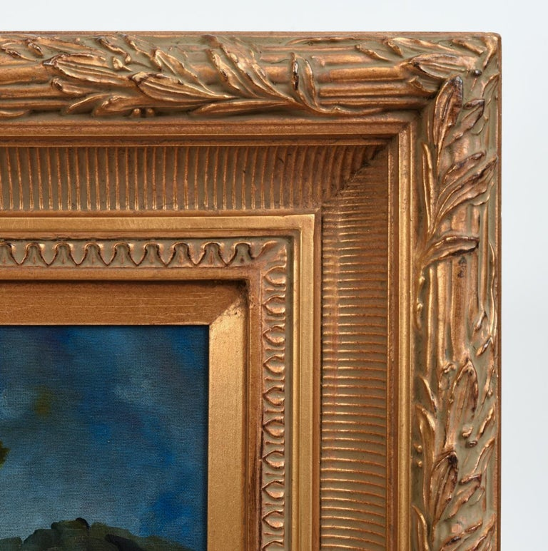 20th Century Giltwood Carved Frame Artwork Oil Painting Still Life For Sale