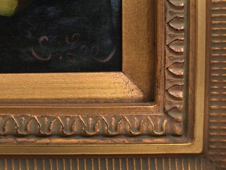 Giltwood Carved Frame Artwork Oil Painting Still Life For Sale 3