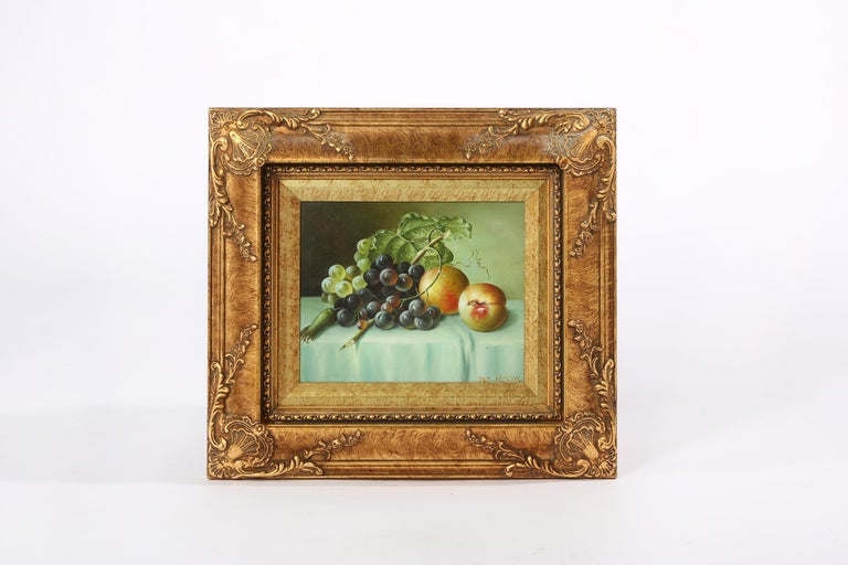 Giltwood Frame Oil on Canvas Painting For Sale 4