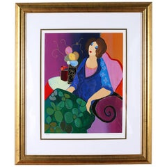Giltwood Framed Itzchack Tarkay Signed & Numbered Serigraph