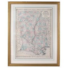 Giltwood Framed / Matted Library / Study Room Map