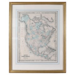 Giltwood Framed and Matted Map