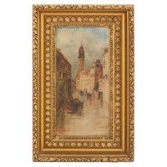 Gilt Wood Framed Oil / Canvas Painting