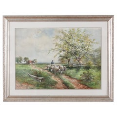 Giltwood Framed Water Color Painting