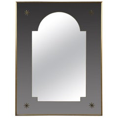 Giltwood and Glass French Art Deco Mirror