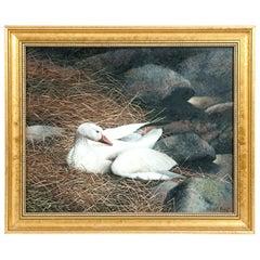 Gilt Wood Oil / Canvas Wildlife Painting