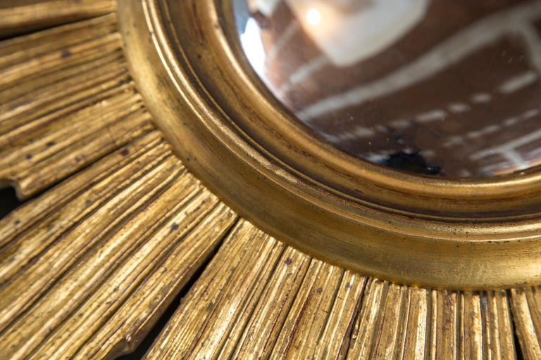 Giltwood Sunburst Mirror, France, Mid-20th Century For Sale 3