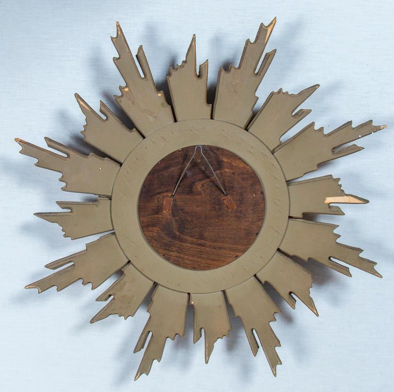 Giltwood Sunburst Mirror, France, Mid-20th Century For Sale 4