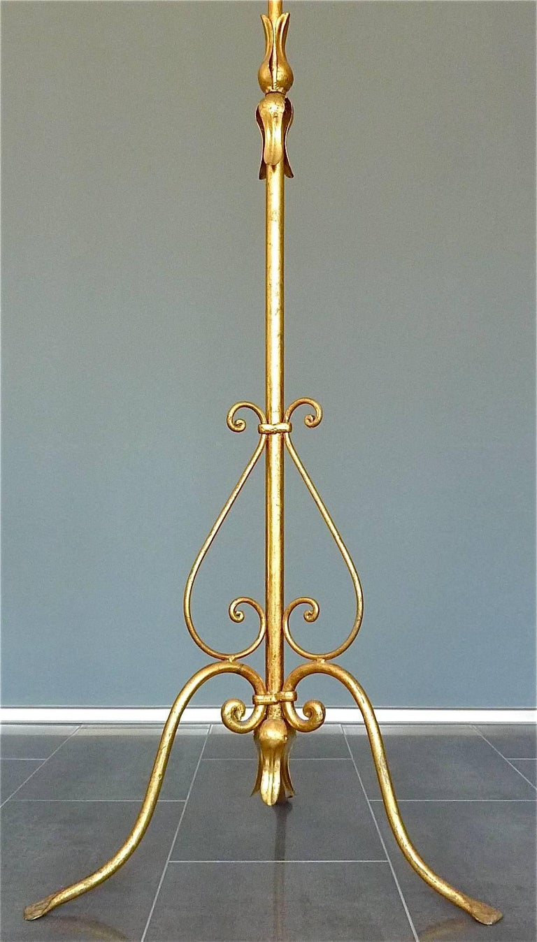 Gilt Wrought Iron Metal Coat Stand Hat Rack Fornasetti Kögl Style, Italy, 1950s For Sale 2