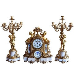 Gilded Mantel Clock from Napoleon III Time