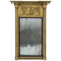 Giltwood 1860s Carved Neoclassical Mirror