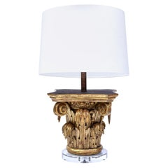 Giltwood Capital as Table Lamp