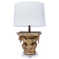 Giltwood Capital as Table Lamp