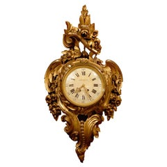 Giltwood Cartel Clock