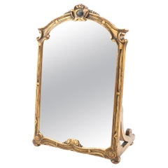 Giltwood Carved Tabletop Mirror, 19th century Regency Style