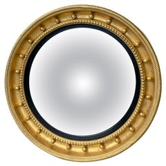Giltwood Convex Mirror, circa 1920s