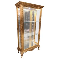 Giltwood Display Cabinet, Louis XV Style
