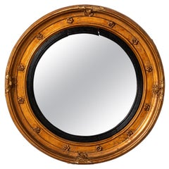 Giltwood English Regency Bullseye Mirror
