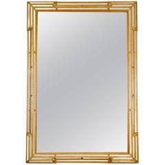 Giltwood Frame Beveled Mantel Hanging Wall Mirror